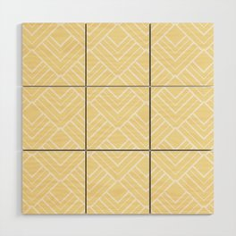 Summer in Paris - Sunny Yellow Geometric Minimalism Wood Wall Art
