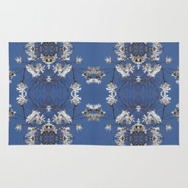 Star-filled sky (Star Magnolia flowers!) - diamond repeating pattern Rug