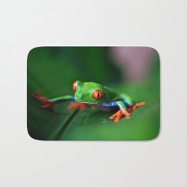 Little Tree Frog (Color) Bath Mat