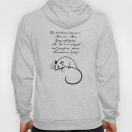 To a Mouse - Robert Burns - Mice and Men Hoody