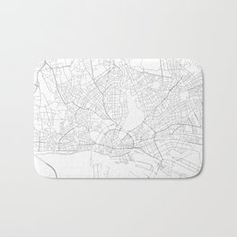 Hamburg, Germany Minimalist Map Bath Mat
