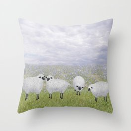 sheep and chicory Throw Pillow