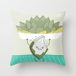 Sweet resolutions - Hard work barfi Throw Pillow