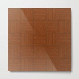 Brown Faux Bois Wood Pattern Metal Print
