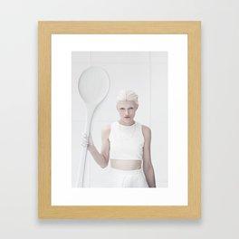 The tea spoon lady IIIII Framed Art Print