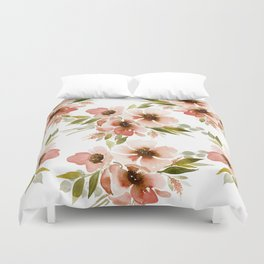 Rust floral Duvet Cover