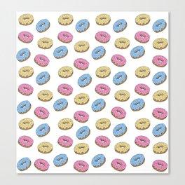 Donuts pattern Canvas Print