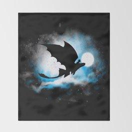 Toothless Night Flight Throw Blanket