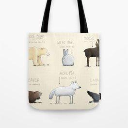 Canadian Animals Tote Bag