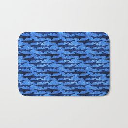 Sharks in the Blue, Blue Sea Bath Mat