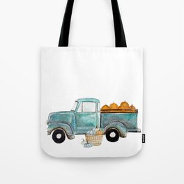Fall vintage truck Tote Bag