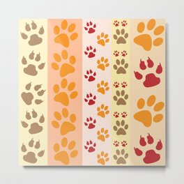 Animal paw prints Metal Print