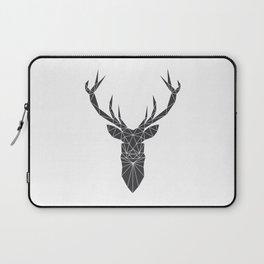 Grey Deer Head Illustration Laptop Sleeve