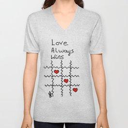 Love always wins Unisex V-Neck