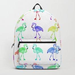 Pink Watercolor Flamingo Backpack