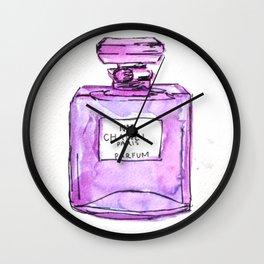 perfume purple Wall Clock