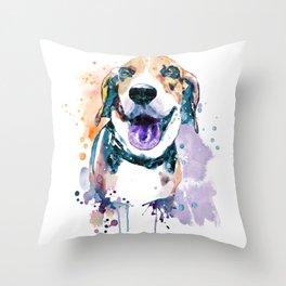 Sweet Beagle Throw Pillow