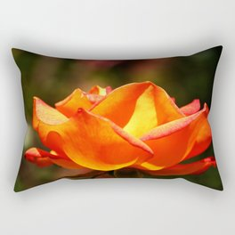 Red Rose Glowing Rectangular Pillow