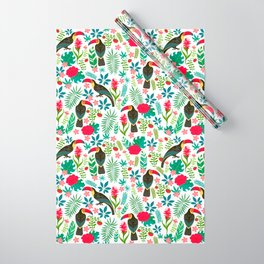 Floral Toucan Wrapping Paper