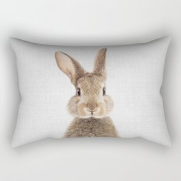 Rabbit - Colorful Rectangular Pillow