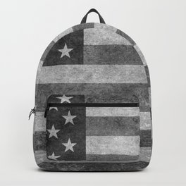 American flag - retro style in grayscale Backpack