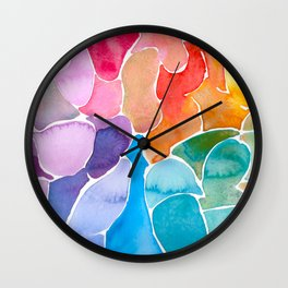 Rainbow glass Wall Clock