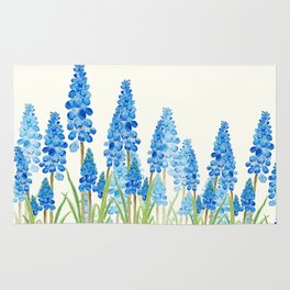 blue grape  hyacinth forest Rug