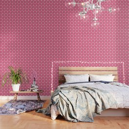 Strawberry Contemporary Bead Pattern Wallpaper