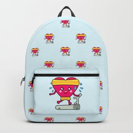 My heart goes faster for you pattern Backpack