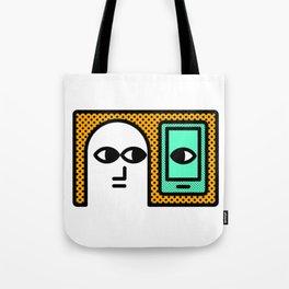 Who's Watchin' Who? Tote Bag