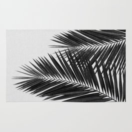 Palm Leaf Black & White II Rug