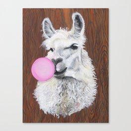 Bubble Gum Dolly; the Llama Canvas Print
