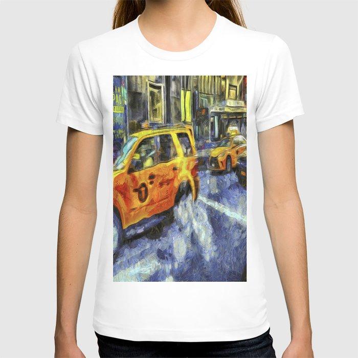 New York Taxis Art T-shirt