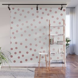 Simply Dots in Rose Gold Sunset Wall Mural