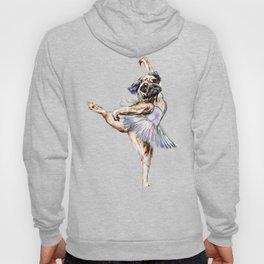 Pug Ballerina in Dog Ballet | Swan Lake  Hoody