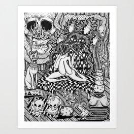 Diamond Priestess  Art Print