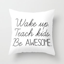 Awesome Teacher Throw Pillow