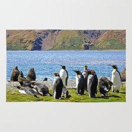 King Penguins and Fur Seals Rug