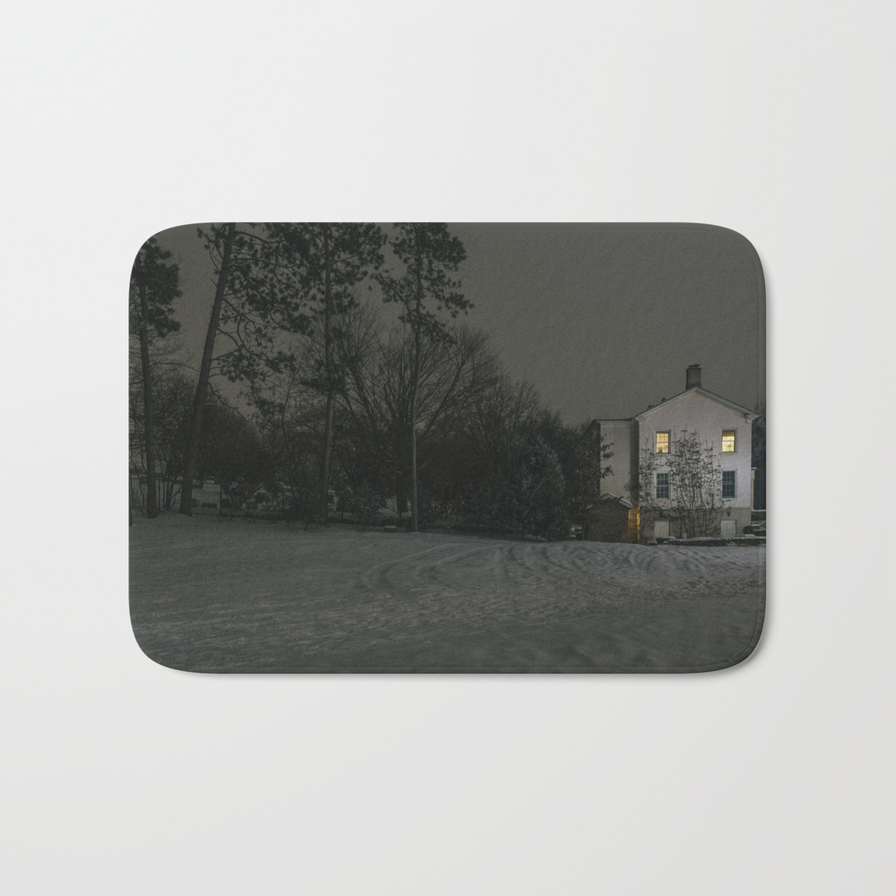 The House By The Cemetery Bath Mat by Peterbaker BMT967316
