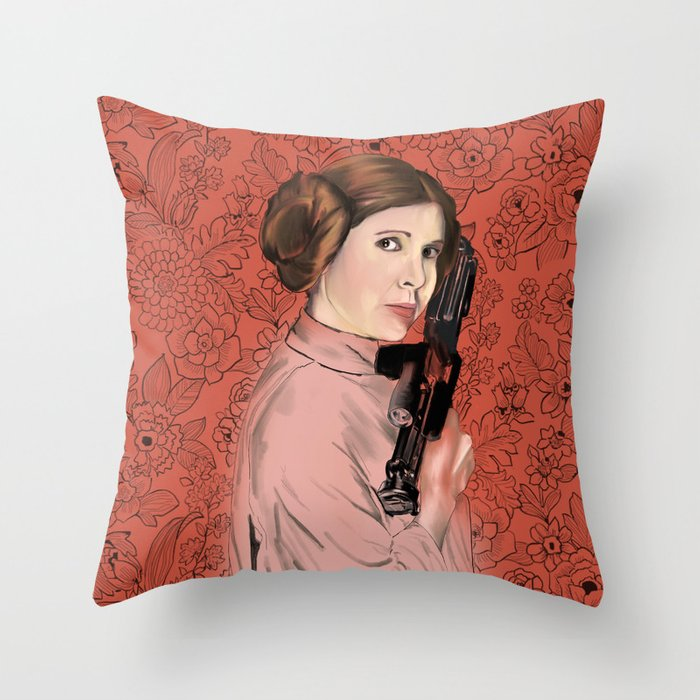 Princess Leia from StarWars Throw Pillow