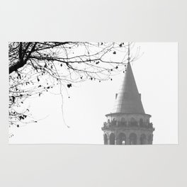 Galata Tower in Istanbul Rug