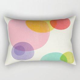 Rainbow Bubbles Rectangular Pillow