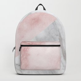 Marchionne Bianco & Silvec Rosa marble soft pink Backpack