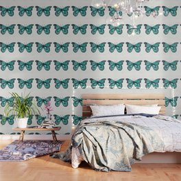 Turquoise Butterfly Wallpaper