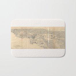 Vintage 1915 Los Angeles Area Map Bath Mat
