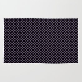 Black and Loganberry Polka Dots Rug