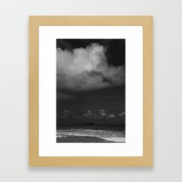 Dark Island Day Framed Art Print