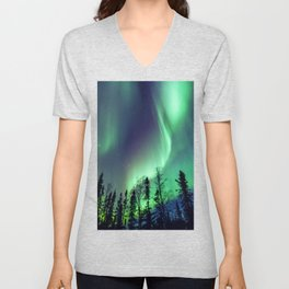Northern Lights in Yellowknife Unisex V-Neck
