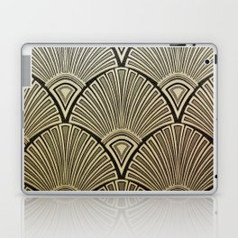 Golden Art Deco pattern Laptop & iPad Skin
