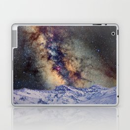 The star Antares, Scorpius and Sagitariuss over the hight mountains. The milky way. Laptop & iPad Skin